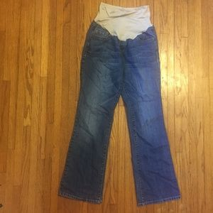 Old Navy Maternity Jeans Boot Cut Smooth Panel 10